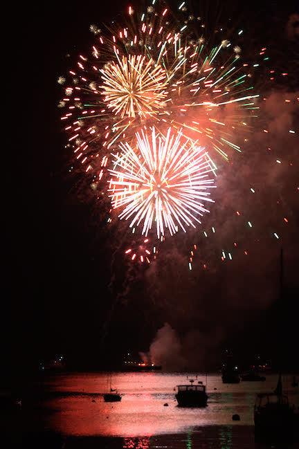 Camden Harbor Fireworks Sail on the Schooner Olad | Schooner