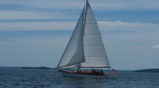 Sailing Vessel Owl Sailing in Camden Maine