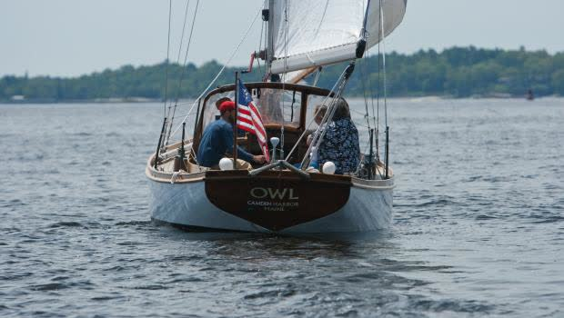 The Cutter Owl heading out into Penobscot Bay