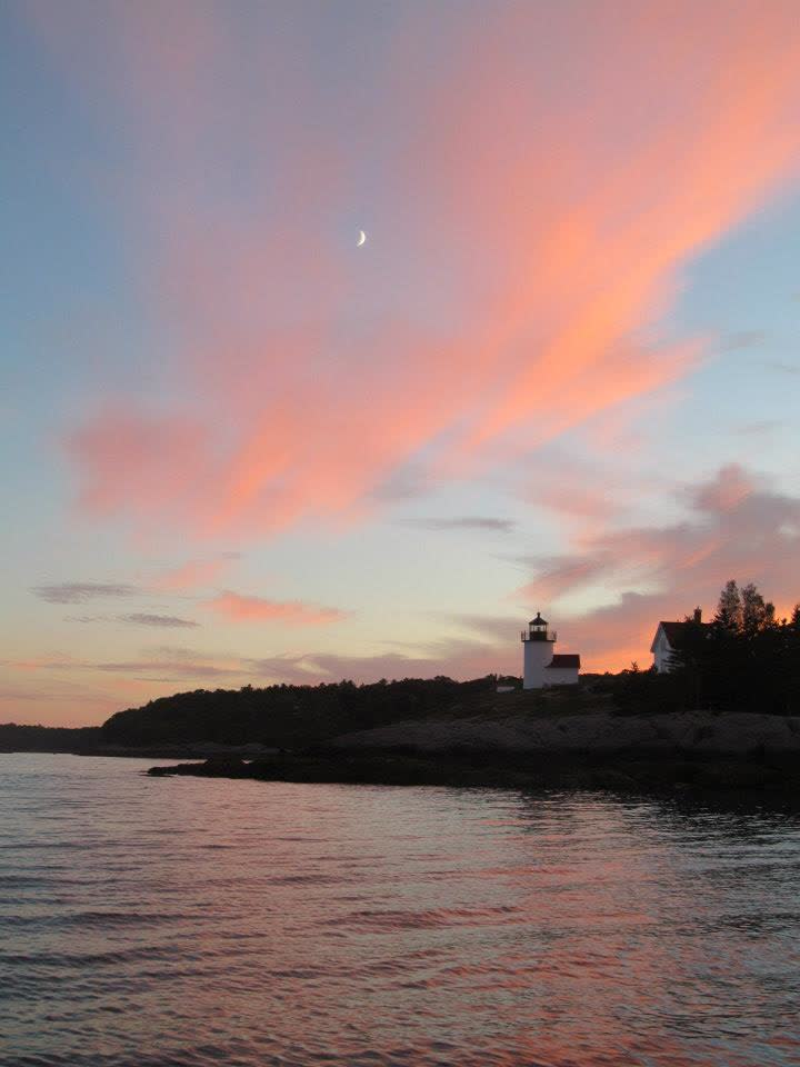 Curtis Island Lighthouse at Sunset